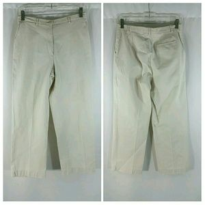 Burberry Pants - Burberry Golf Womens Beige Cotton Cropped Pants